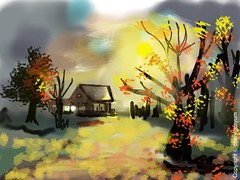 Morning Mist (Cowgirl111) Tags: morning mist art club digital painting sketch finger pixel draw