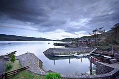 loch melfort pier & harbour (einsteinsmonster) Tags: scotland pier boat nikon apartments harbour dusk argyll lochmelfort sigma1020mm d90 melfort kilmelford lightroom3 einsteinsmonster 2150pm