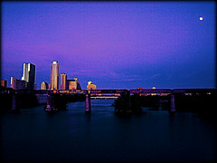 """A Great Sign Appeared in Heaven..."" (Art4TheGlryOfGod) Tags: city love austin hope evening downtown cityscape texas faith moonrise townlake inspirational encouragement"