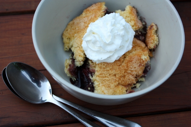 Dutch Oven Berry Cobbler