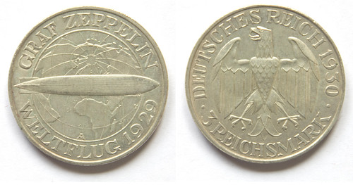 3 Marcos. Alemania 1930