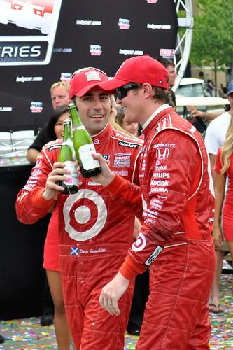 Winner's toast, Honda Indy Toronto 2011