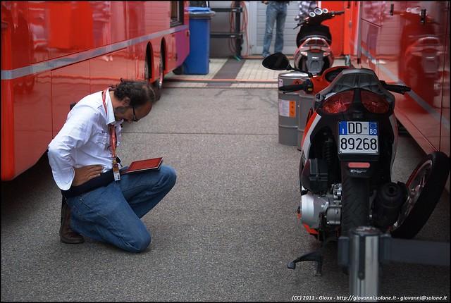 MotoGP - Sachsenring - Guido Meda in meditazione?