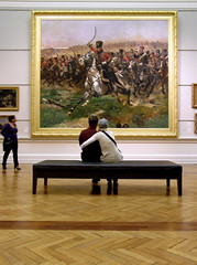 Better Than Television (Kaptain Kobold) Tags: new art love museum wales painting war couple gallery seat south sydney nsw cuddle agnsw charge myfave cavalry napoleonic kaptainkobold yourfave detaille edoard