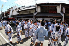 Yukata clothes ------ (Teruhide Tomori) Tags: travel festival japan kyoto traditional fisheye event  yukata  15mm    gionmatsuri      yamaboko