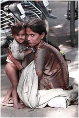 Mother and Daughter Jaipur India (My eyes through a lens) Tags: portrait india sister brother delhi mother turban jaipur rajasthan jodhpur bundi rajasthani pushbikes