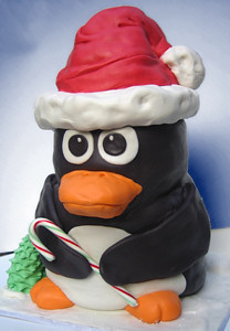 Sculpted Penguin Cake
