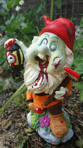 Zombie Gnome by wickeddollz