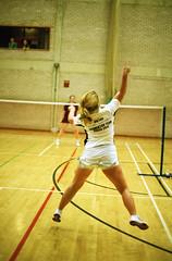 smash clear tournament badminton universityofyork racquet nikonf5 dropshot fujifilmsuperia nikkor50mmf14g