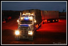 McArdle Freight (Tom O'Connor.) Tags: road morning yard train truck canon lens eos star highway track under twin down off double stuart mining dirt midnight western land depot outback trucks kit sa heading marla freight trucking opals mcardle truckers coober pedy 2011 ernabella 1000d