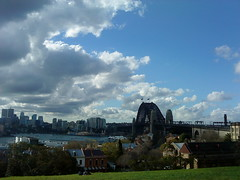 Panorama (phonetography101) Tags: bridge heritage water grass skyline architecture view harbour hill sydney historic sydneyharbour