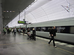 Underground station, Triangeln (La Citta Vita) Tags: new city publictransit sweden platform trains swedish busy trainstation transportation connectivity urbanism malm travelers connection malmo stad commuters mobility urbanlife smartgrowth undergroundstation triangeln pedestrianfriendly contemporarydesign passenegers