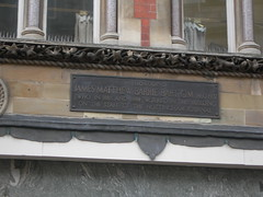 Photo of James M. Barrie black plaque