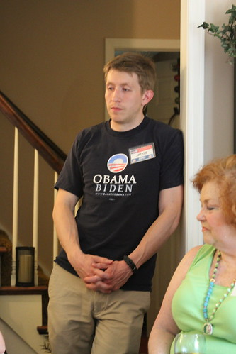 Local volunteer Jacob at Barb's House Party