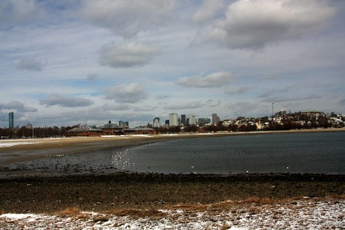 Carson Beach Boston Winter Scenes
