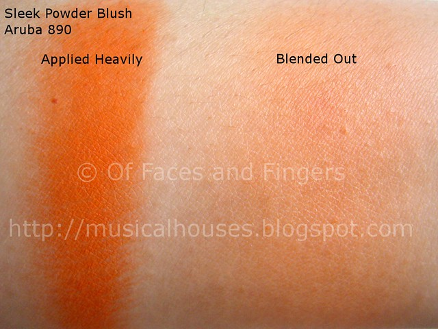 sleek aruba blush swatch