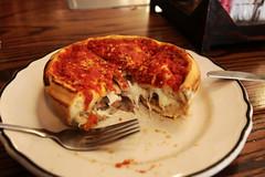 Deep-dish pizza (Markus Moning) Tags: food usa chicago field america us illinois italian dof dish bokeh united deep style il pizza porn states pizzeria depth deepdish giordano giordanos moning chicagostyle markusmoning canoneos50d