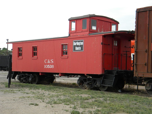 Colorado & Southern Railroad wooden steam era caboose.  The Pueblo Railway Museum.  Pueblo Colorado USA.  2011. by Eddie from Chicago