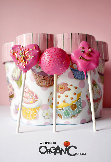 Yummy, birthday Cake Pops for Mom