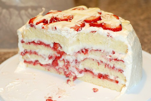Easy Strawberry Cassata Cake Recipe