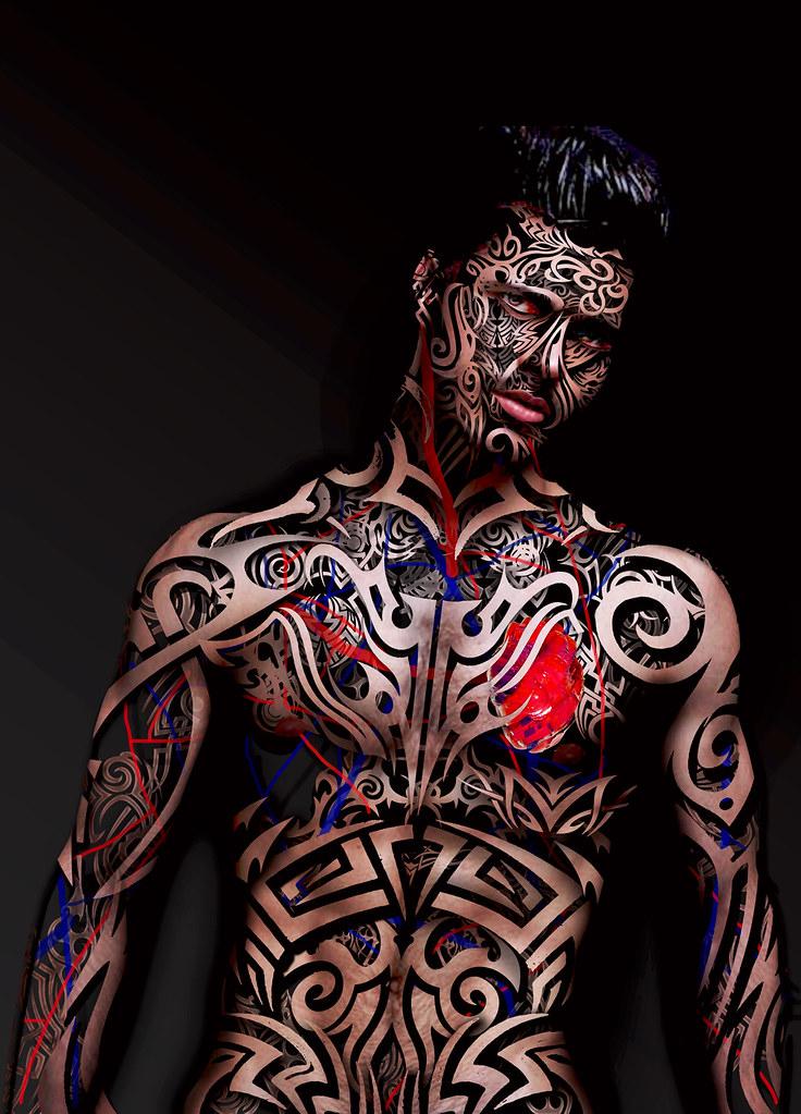 Tatuaje de piel.