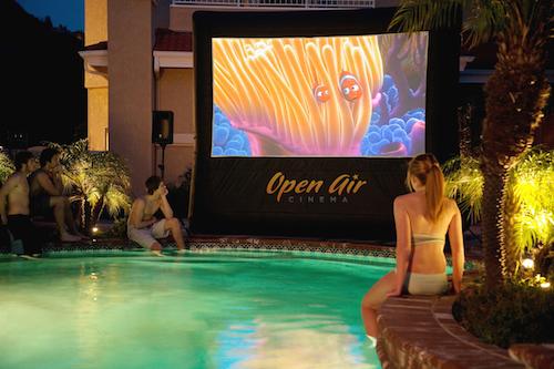 Outdoor Poolside Cinema