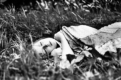 (danielle kiemel) Tags: portrait people blackandwhite nature girl grass female youth 50mm nikon peace photographer escape sleep f14 young peaceful teenager fields rest asleep donegal codonegal gweedore bunbeg daniellekiemel