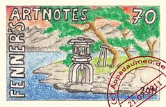 FPM# 15 (appadaumen_de) Tags: sun moon art japan garden japanese office post stamps kunst over stamp nippon garten postage marken steinlaterne marke artistamp japanischer artistamps briefmarken fenner japanisch briefmarke artstamps appadaumen artnotes