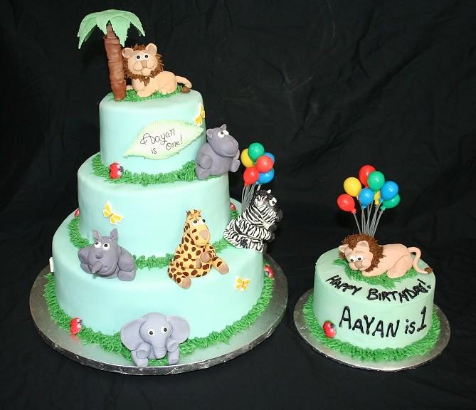 Jungle Cake (Paulas Custom Cakes) Tags: birthday elephant vancouver ...