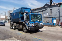 Allied Waste Dumpster Truck (TheTransitCamera) Tags: blue truck garbage waste allied