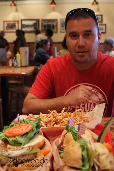 Dan eating at Kua Aina
