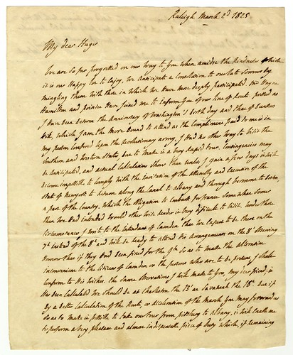 Lafayette letter to Francis Huger  [recto]
