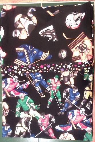 pillow cases hockey 22july11 by KnitterinProgress