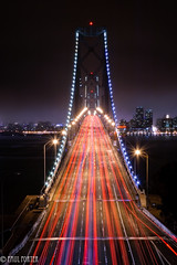 Dead Reckoning (Paul Porter Photography) Tags: bridge light urban motion blur night paul island photography oakland evening bay nikon san francisco long exposure shoot traffic suspension d70s trails explore yerba porter buena urbannight urbanlights