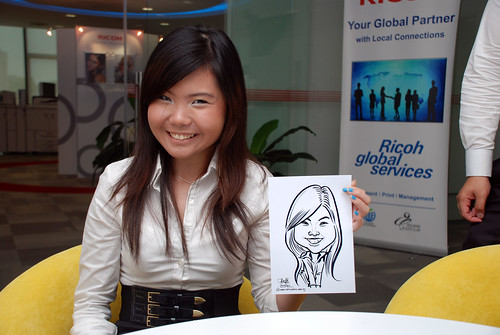 Caricature live sketching for Ricoh Roadshow - 6