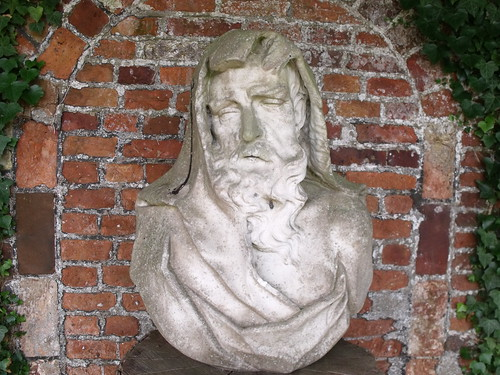 Houghton Hall - Walled Garden - Herbaceuos border - new rustic temple - bust