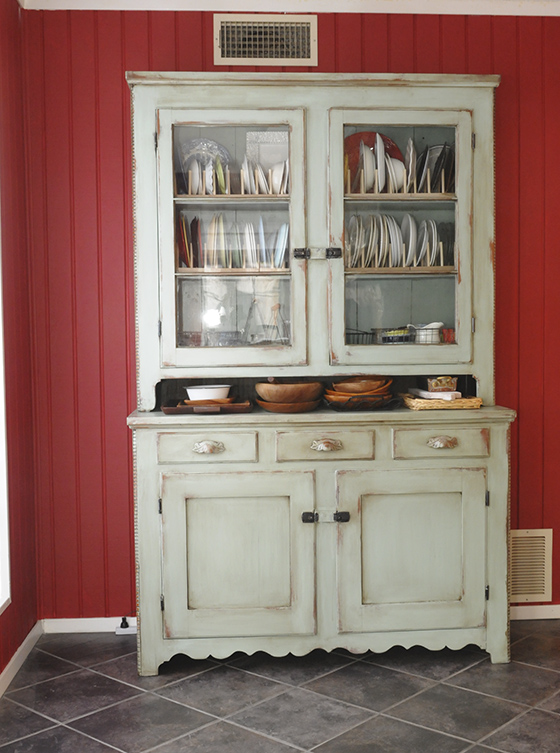 refinished hutch post a