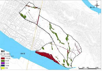 整個璞玉計畫公有地比例低,紅色區塊為國有地、綠色區塊為縣有地。圖片來源:新竹縣政府網站。