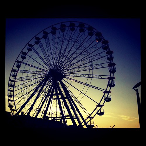Ferris wheel during #sunset in #Bray #festival by Gribers