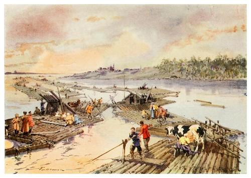 014-Almadias en el Volga- Provincial Russia-1913- F. de Haenen