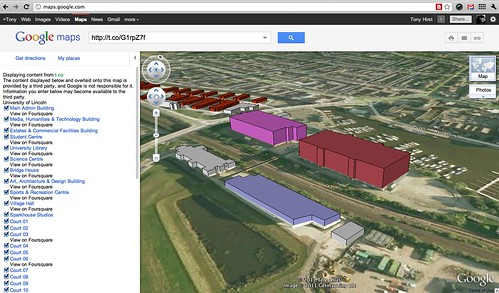 Lincoln U 3d layers/kml in google earth