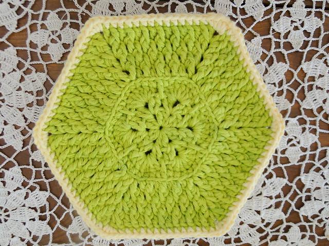 green dishcloth