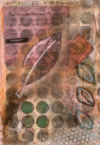 THERAPY Art Journal Page by taylor_maide