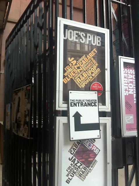 sign for Joe's Pub