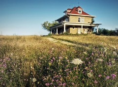 """There's nothing half so pleasant as coming home again."" (OneEyedJax) Tags: summer house wisconsin rural weeds empty country hill sigma1020"