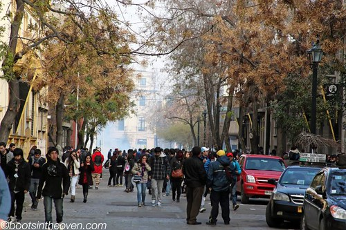 Student protests in Santiago