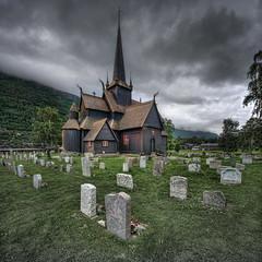 Lom - stavkirke (Mariusz Petelicki) Tags: norway norge hdr lom stavkirke norwegia vertorama kościółdrewniany