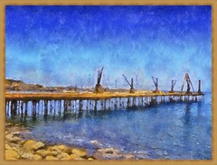 Antofagasta - Muelle Salitrero Pintura (Victorddt) Tags: chile sonycybershot pintura antofagasta muellesalitrero