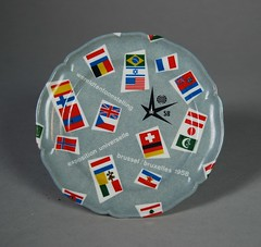 1958 Brussels Universal Exhibition Plate (Psychoceramicus) Tags: brussels belgium bruxelles plate exhibition plastic 1950s 1958 50s universal melamine ornamin
