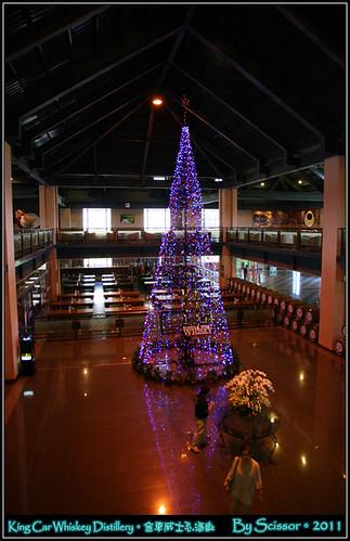 二樓俯瞰聖誕樹